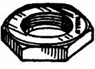 Wald 24t Lock Nut for One Piece Cranks