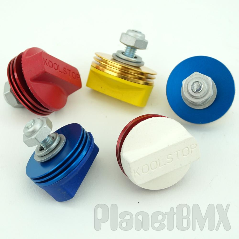 Kool Stop International brake pads White w// Blue Anodized Cooling Fins USA Made
